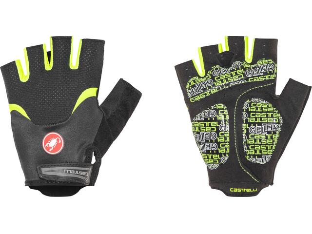 Castelli Arenberg Gel Gloves Men black/yellow fluo